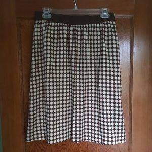 L. L. Bean Signature print silk skirt